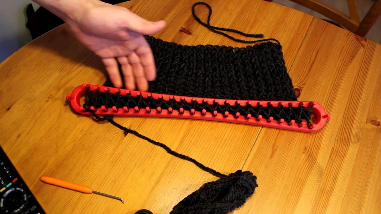 Berühmt Schal mit Strickrahmen stricken Teil 03/13: Der erste Erfolg - YouTube JA64