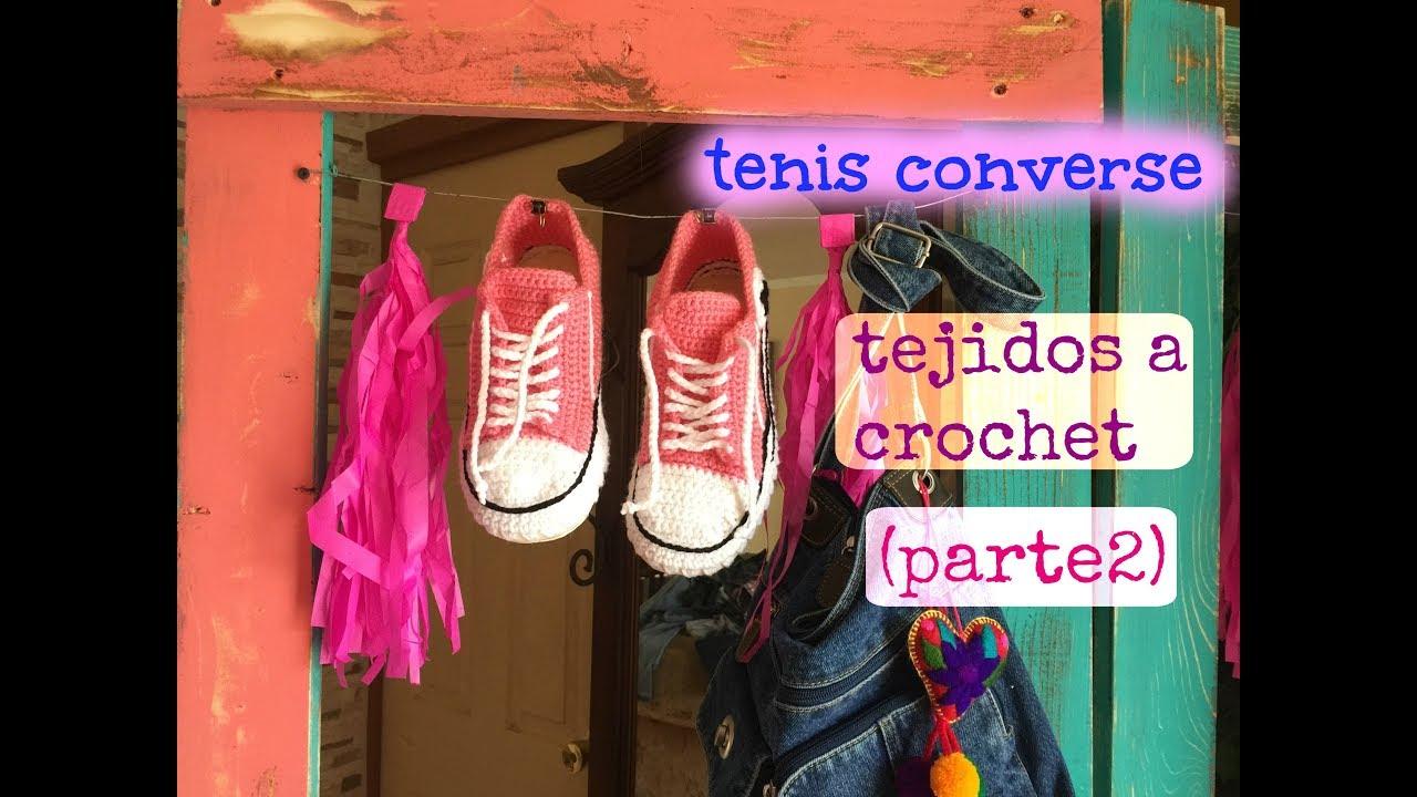Tenispantunflas Converse Tejidos A Crochet Parte2