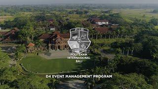 Politeknik Internasional Bali | Corporate Video | D4 Event Management Program | Videographer