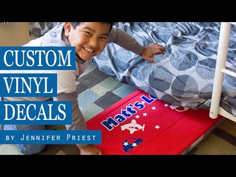 How To Make Custom Vinyl Decals Using Sizzix Eclips DIY - Custom vinyl decals diy