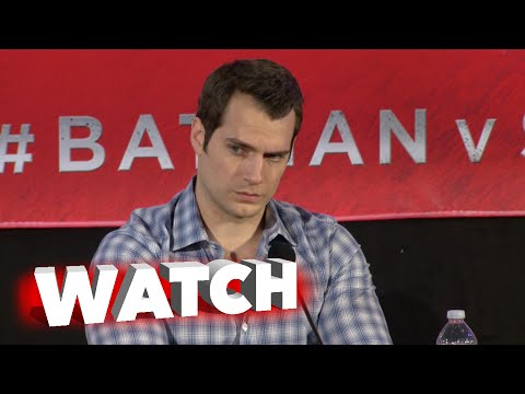 Batman v Superman: Dawn of Justice: Press Conference - Henry Cavill, Amy Adams Cam