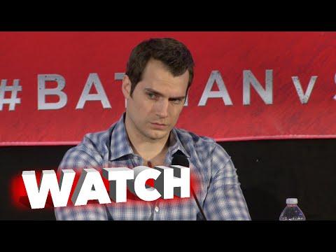 Batman v Superman: Dawn of Justice: Press Conference - Henry Cavill, Amy Adams Cam