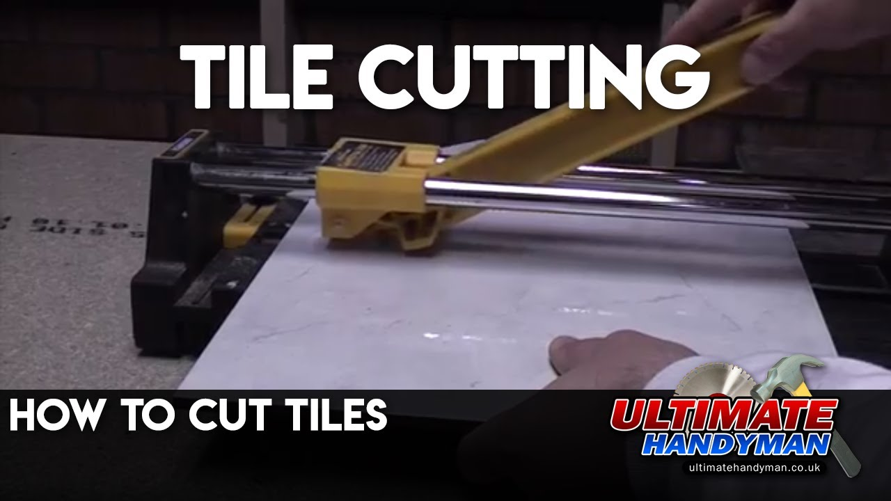 How to cut tiles - tile cutting - YouTube