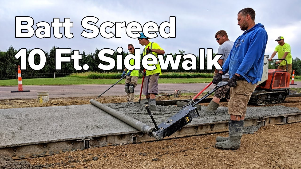 Batt Screed 10 Ft Sidewalk