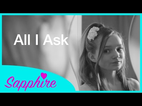 Adele - All I Ask - Cover by 13 year old Sapphire   Grammy 2016 version