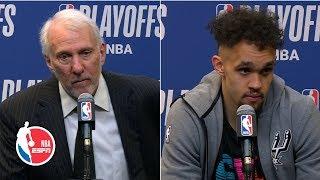 Gregg Popovich on Derrick White's 36-point game: 'He's ok' | 2019 NBA Playoffs