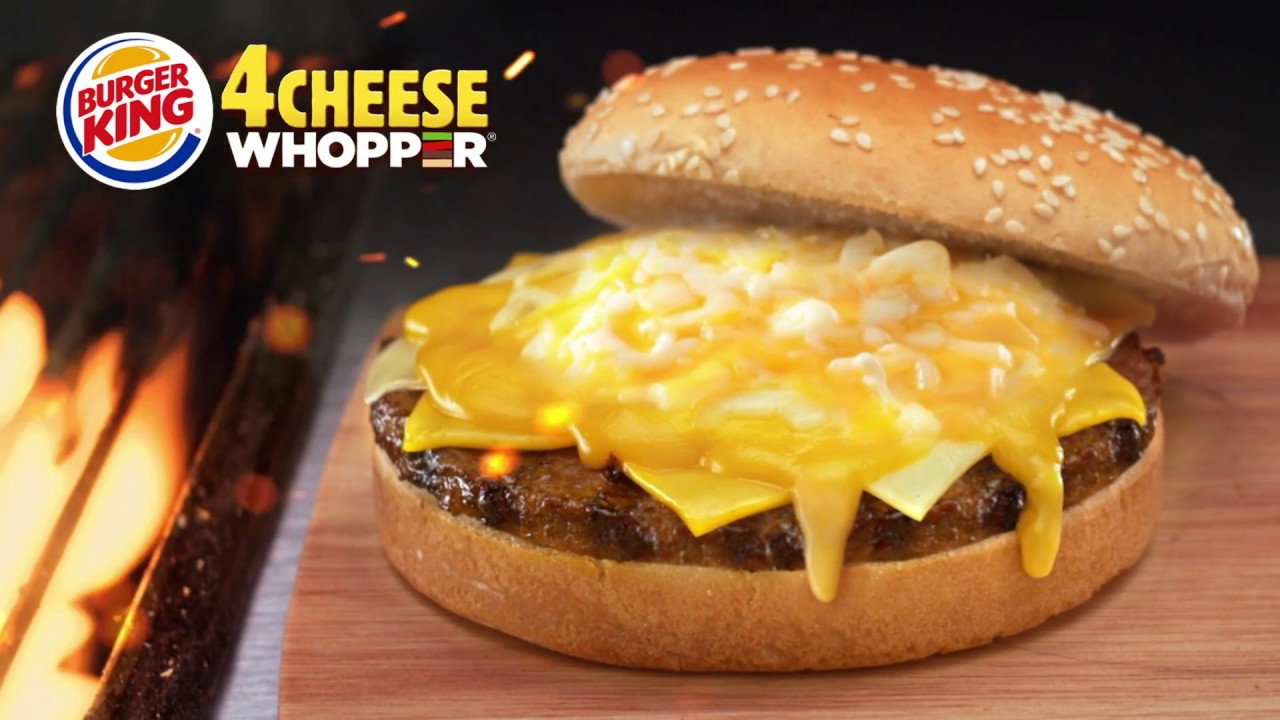 TRY The Burger King 4 Cheese Whopper
