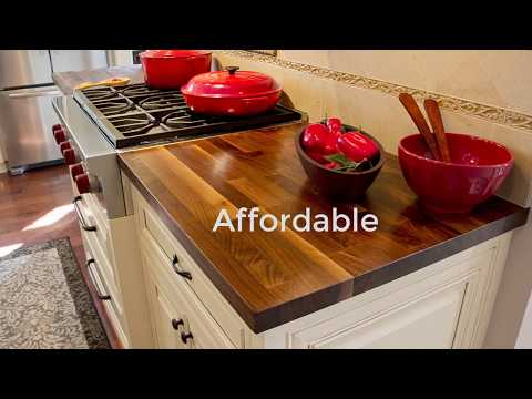 Wood Countertops & Island Tops - Butcher Block and Plank Style