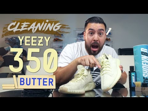 """How to Clean Stained Yeezy 350 V2 """"Butter"""""""