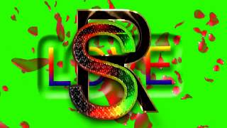 S Love R Letter Green Screen For WhatsApp Status | S & R Love,Effects chroma key Animated Video