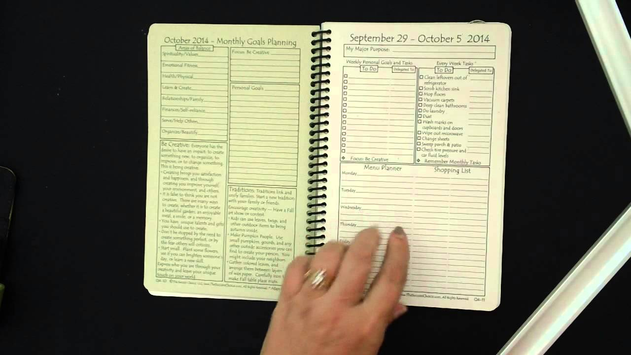 The women 39 s success planner first impressions size compare for For planner