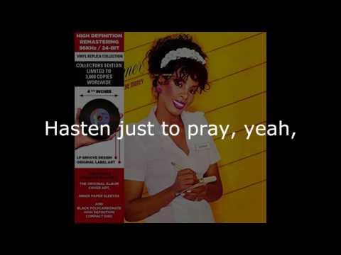 "Donna Summer - Unconditional Love (7"" Single) LYRICS SHM ""She Works Hard for the Money"""