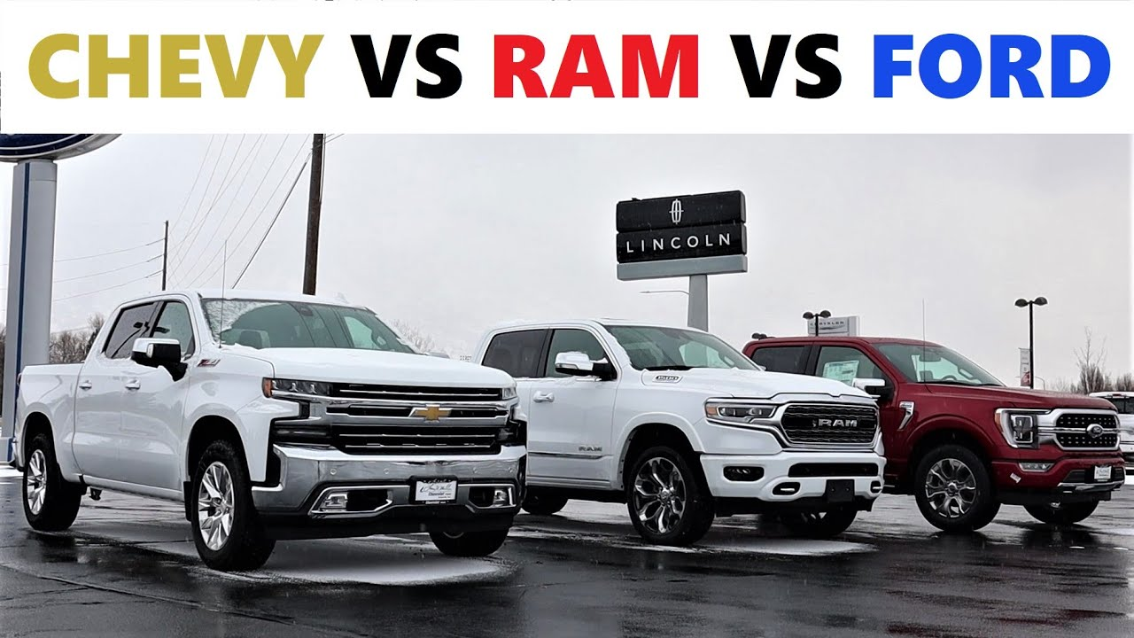 Latest technologies ⚡ of the 2021 ram 1500 classic: 2021 Chevy 1500 Ltz Vs 2021 Ram 1500 Limited Vs 2021 Ford F 150 Platinum Who Makes The Best Truck Youtube