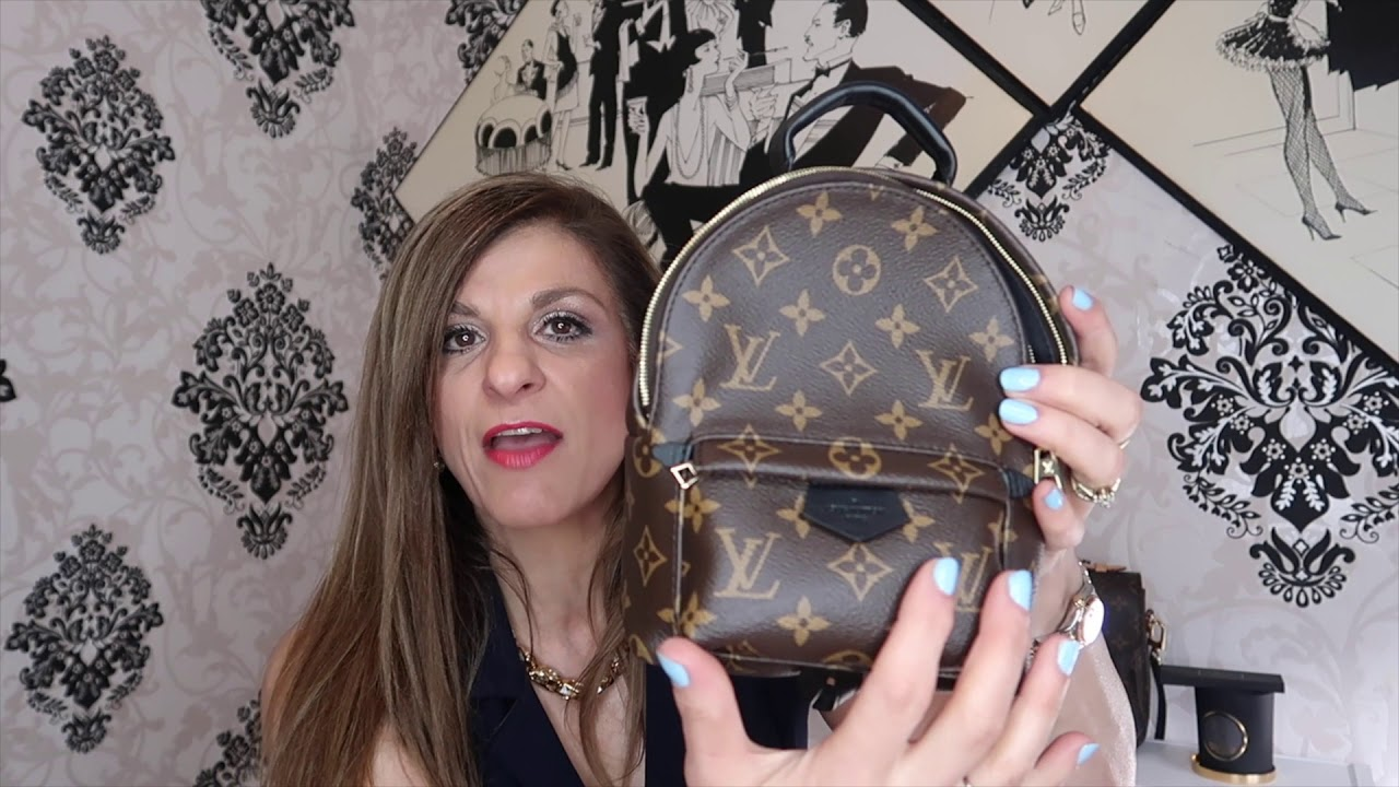 175f9bdbb7da Louis Vuitton Palm Springs Mini Backpack Unboxing   Try On - YouTube
