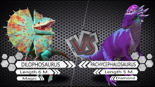 Dilophosaurus VS Pachycephalosaurus Dinosaurs Colosseum Battle