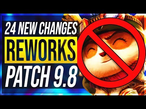 TEEMO CANCELLED, AATROX ULT REWORK & MORE - 24 New Changes & OP Champs Patch 9.8 | League of Legends
