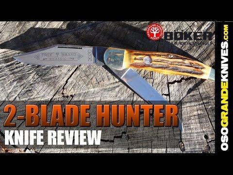 Boker Double Blade Folding Hunter Pocket Knife Review   OsoGrandeKnives