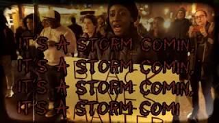 RAH DIGGA - Storm Comin' feat. Chuck D (Prod. by Marco Polo) [LYRIC VIDEO]