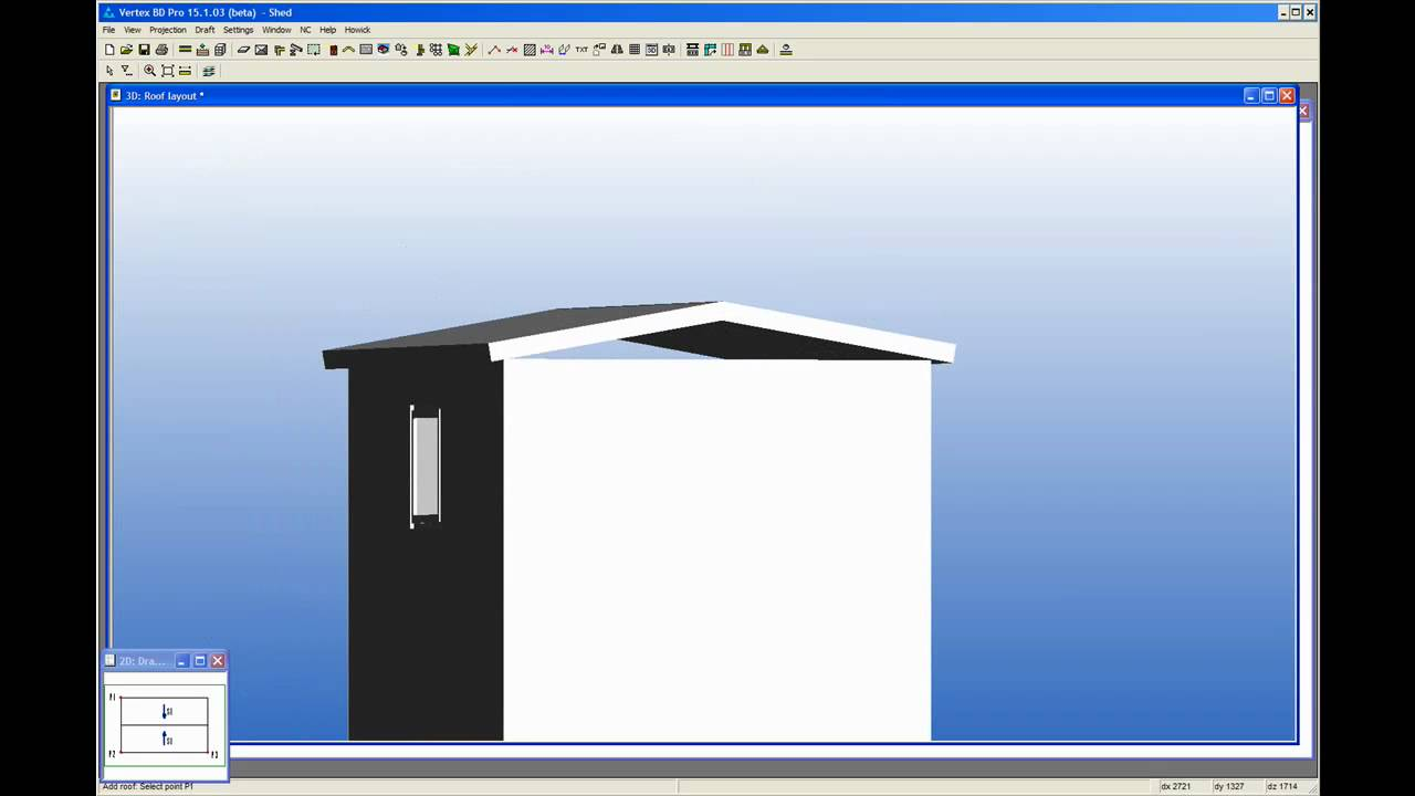 How To Draw A Simple Steel Framed Shed Using Vertex