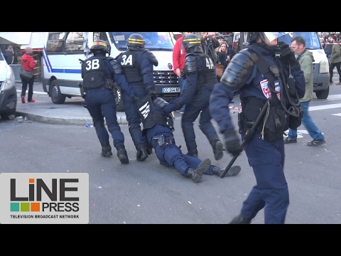 La manifestation pour Théo fini dans la violence / Paris - France 18 février 2017