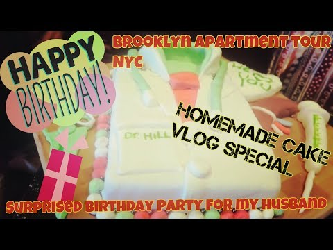 #HillFvlog34 simple birthday party for my husband | our (empty) apartment short tour in Brooklyn