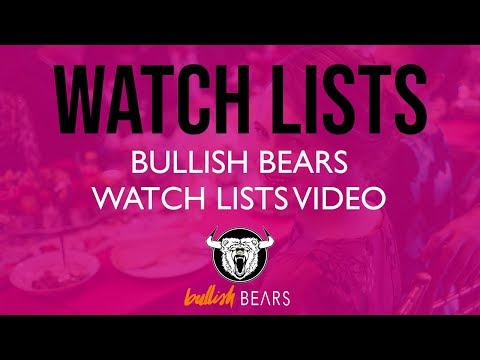 Stock Watch Lists - Bullish Bears Stock Watch List 11-13-2018