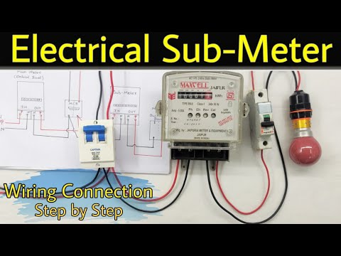 How To Install Electric Sub Meter Wiring Connection Of Submeter Use Of Submeter In Hindi Deepakkumar Yadav