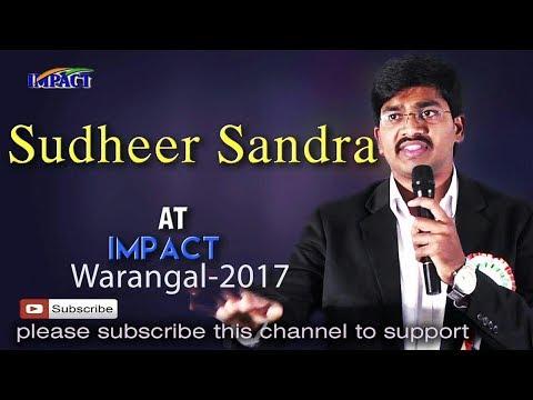 Sudheer Sandra at Impact Warangal 2017
