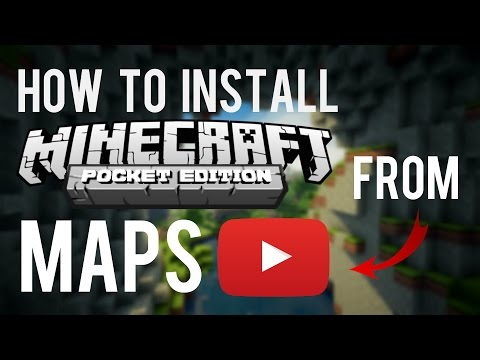 How To Install Minecraft PE Maps From A Youtube Video!