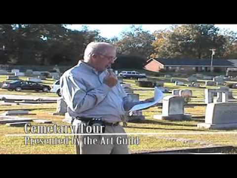 Graveyard Tour of Resthaven Cemetery in Monroe Ga Oct 2012