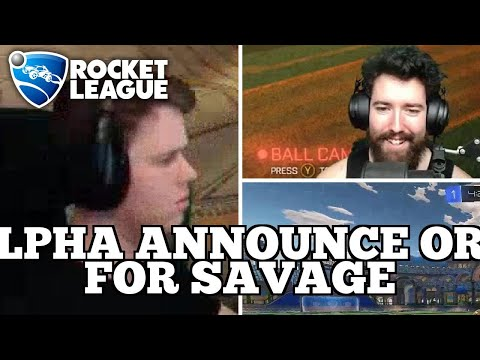 WTF Rocket League Moments: ALPHA ANNOUNCE ORG FOR SAVAGE thumbnail