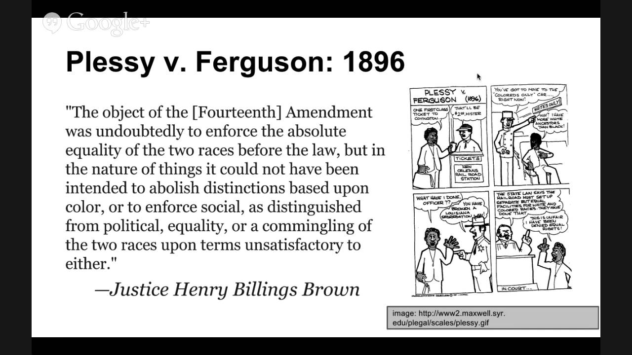 The Supreme Court Precedent Cases Plessy v Ferguson 1896 - YouTube