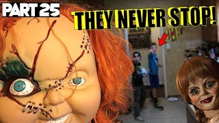 Evil Doll Annabelle mailed to us FREAKS US OUT and haunts us like a SCARY CLOWN - Part 25