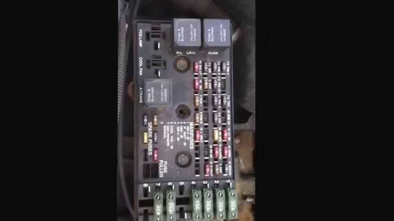 Saturn S Series 19902002 Fuse Diagram  YouTube