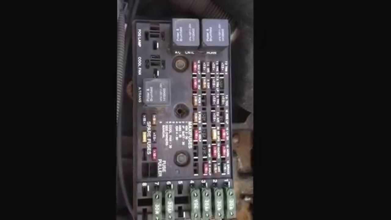 Saturn S Series 19902002 Fuse Diagram  YouTube