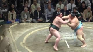 20160518 大相撲夏場所11日目 琴勇輝 vs 正代.