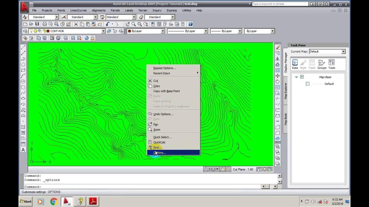 Changing The Map Background Color Autocad Land Desktop 2009