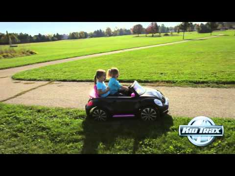Kid Trax 12-Volt Volkswagen Beetle Convertible Ride-on Toy Car