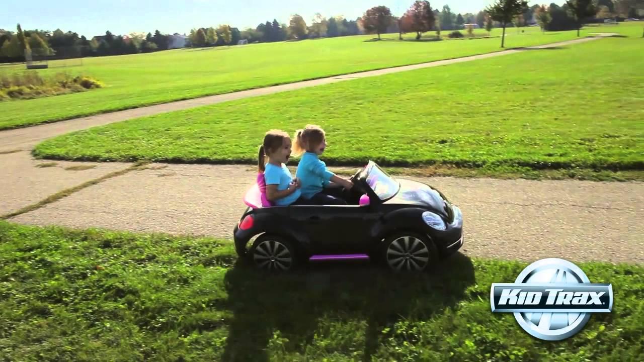 Kid Trax 12-Volt Volkswagen Beetle Convertible - YouTube