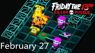 Friday the 13th: Killer Puzzle - Daily Death February 27 Walkthough (iOS, Android)