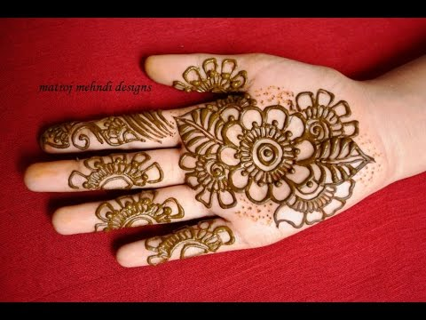 Mehndi Hands Designs : Easy simple mehndi designs for hands: matroj youtube