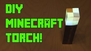 DIY Minecraft Torch – with Flickering Effect!