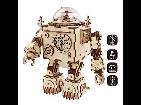 Robotime Steam Punk Music Box - AM601 Orpheus  3D Wooden Puzzle