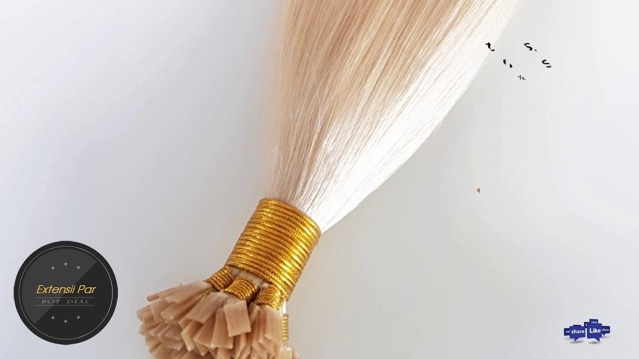 Extensii Par Natural Cheratina Premium Blond Perlat 101 Youtube