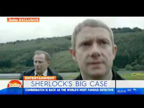 interview with Benedict Cumberbatch and Martin Freeman in Australia's Today
