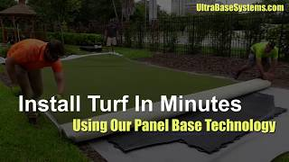 Install Turf In Minutes With UltraBase Panels