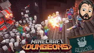Minecraft Dungeons Gameplay Trailer Reaction!! | Thinknoodles Reacts