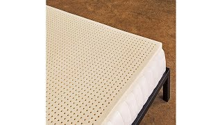 Pure Green 100% Natural Latex Mattress Topper - Soft - 3 Inch - King Size
