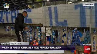 En Vivo desde Italia - Fanáticos rinden homenaje a Diego Armando Maradona