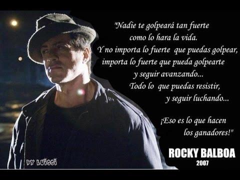 Mensaje De Reflexión Rocky Balboa Sylvester Stallone